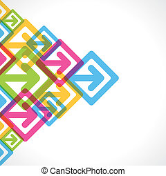 creative colorful arrow movement