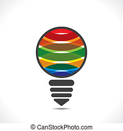 creative colorful bulb design