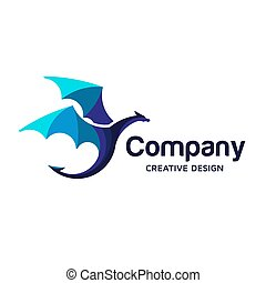 Colorful dragon Logo Symbol