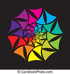 creative colorful shape design