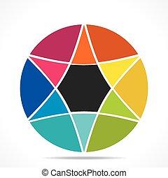 creative colorful star info-graphic