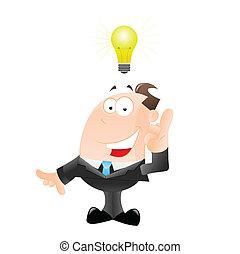 Businessman Got an Idea - Creative Concept Art of...