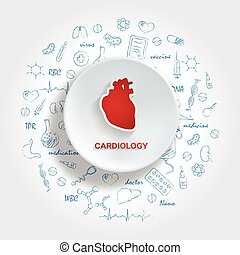 Creative Concept Background Of The Human Heart. Medical...