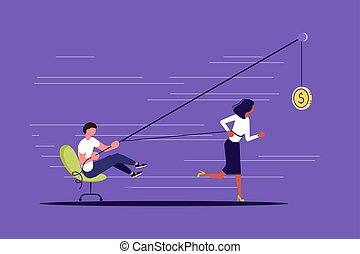 Creative concept of Boss use worker