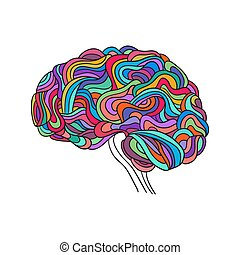 human brain, vector - Creative concept of the human brain,...
