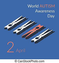 Creative concept vector illustration for World Autism awareness day.