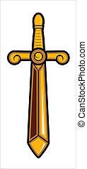Sword Vector Mascot - Creative Conceptual Artistic Design of...