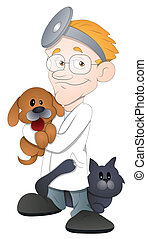 Animal Doctor Cartoon Character