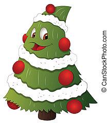 Cartoon Christmas Tree Character