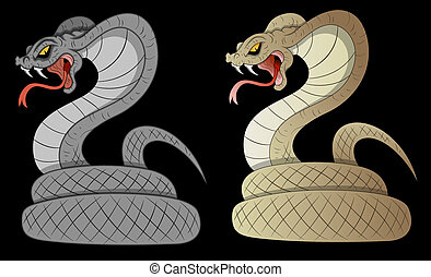 Creative Conceptual Design Art of Scary Halloween Snakes Vector Illustration