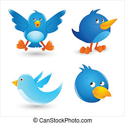 Twitter Birds - Creative Conceptual Design Art of Twitter...