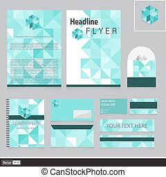 Creative corporate identity with triangles for your company. Vector unusual business idea.