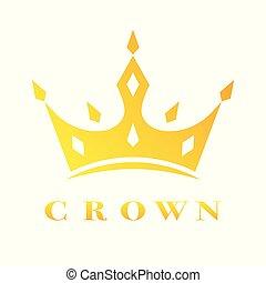 Creative Crown Concept Logo Design Template. EPS 10