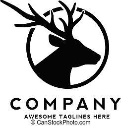 creative Deer head silhouette