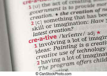 Creative definition in the dictionary