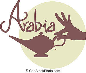 Arabia icon - Creative deisgn of Arabia icon