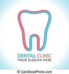 Creative dental clinic logo vector
