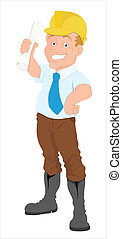 Architect Cartoon Character Vector