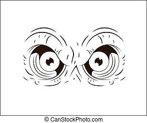 Hand Drawn Angry Eye