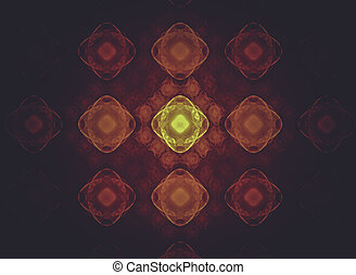 Creative design background, fractal styles with color design