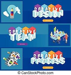 Creative design banners set