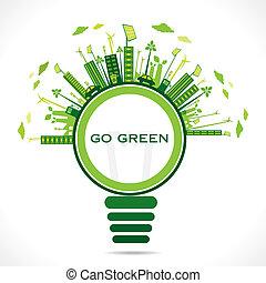 creative design for go green earth