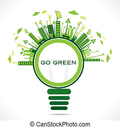 creative design for go green earth