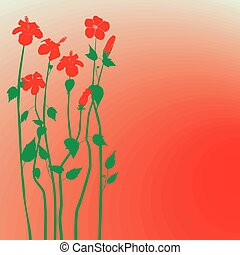 Creative design hibiscus flowers ba