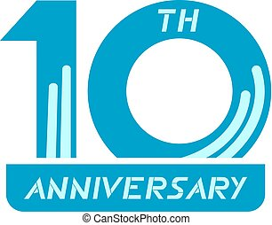 10 th anniversary - Creative design of 10 th anniversary