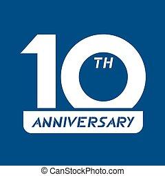 Creative design of 10 th anniversary icon design
