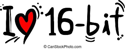 16 bit love - Creative design of 16 bit love