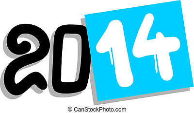 2014 year - Creative design of 2014 year symbol