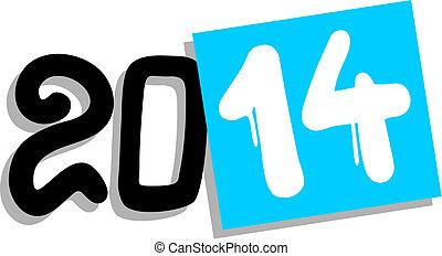 2014 year - Creative design of 2014 year symbol