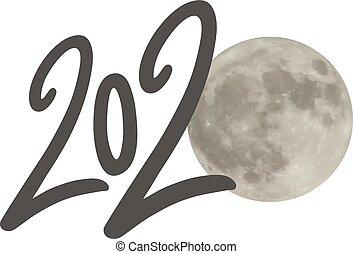 2020 moon year symbol