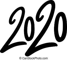 Creative design of 2020 new year