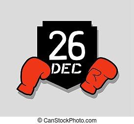 26 dec boxing day emblem - Creative design of 26 dec boxing...