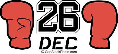 26 dec boxing day symbol - Creative design of 26 dec boxing...
