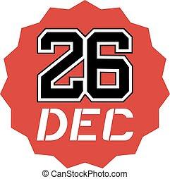 26 dec icon - Creative design of 26 dec icon