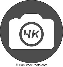 4k cam icon - Creative design of 4k cam icon