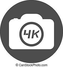 4k cam icon - Creative design of 4k cam icon