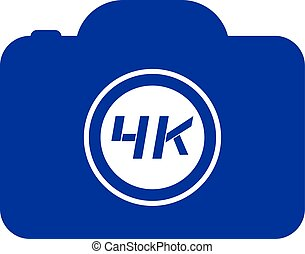4K cam symbol - Creative design of 4K cam symbol