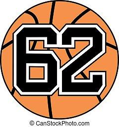 62 basket symbol - Creative design of 62 basket symbol