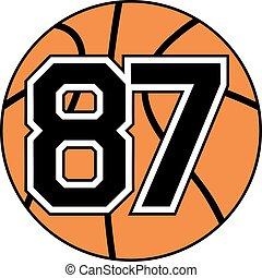 87 basket symbol
