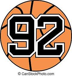 92 basket symbol - Creative design of 92 basket symbol
