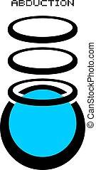 Creative design of abduction energy symbol