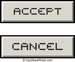 accept and cancel retro buttons