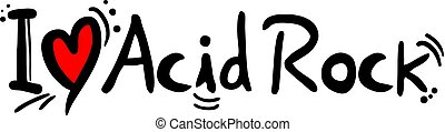 Acid Rock love message - Creative design of Acid Rock love...