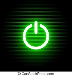 activate green light symbol - Creative design of activate...