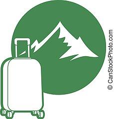 Adventure travel icon