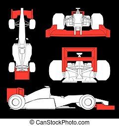 aerodynamics racing car